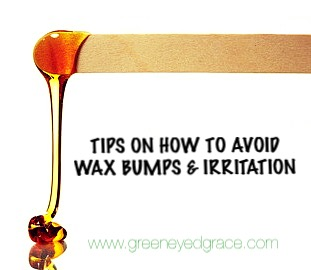 8 STEPS – HOW TO AVOID WAXING BUMPS & IRRITATION