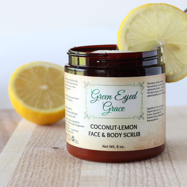 Coconut Lemon Face & Body Scrub - Green Eyed Grace